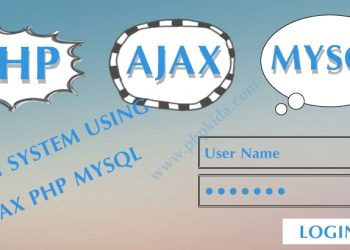 Simple ajax php mysql login page