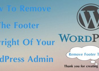 How to remove the footer copyright of your WordPress admin