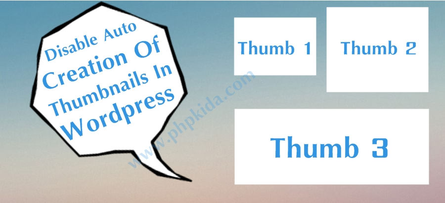 How do i disable auto creation of thumbnails in WordPress