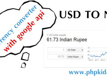 How to implement google currency converter php