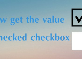 How Get the value of checked checkbox