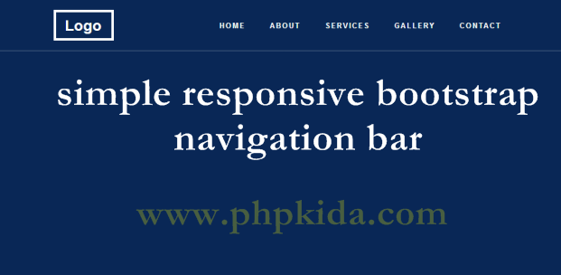 Simple responsive bootstrap navigation bar