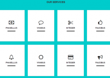 Flat responsive services box css example template