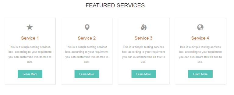 services box css template bootstrap free download