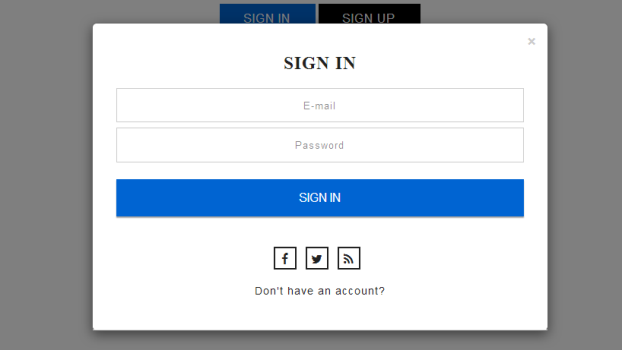 Bootstrap login and registration form template