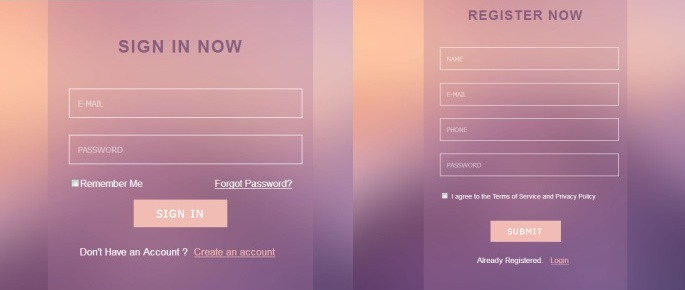 Beautiful bootstrap login and registration form template free download