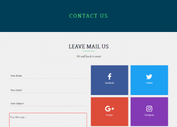 Beautiful bootstrap contact us page template free download
