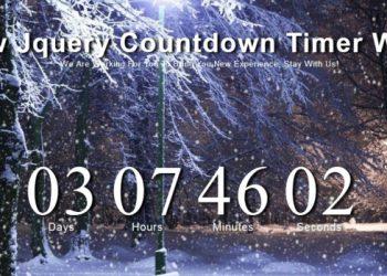 Snow Jquery Countdown Timer Widget