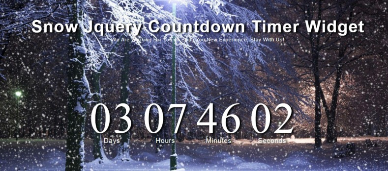 Snow Jquery Countdown Timer Widget