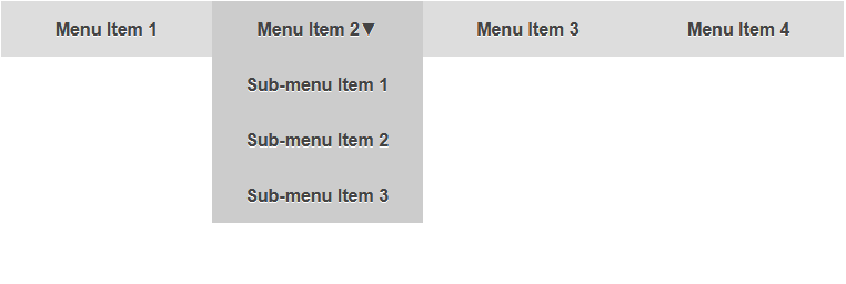 Pure css drop down menu