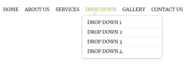 Pure css dropdown navigation bar