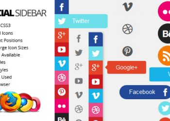 Social sharing button sidebar widget