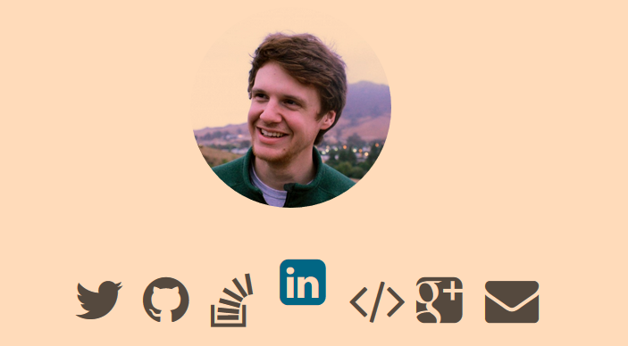 Animated Social icon css hover effects