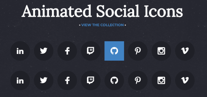 Yet Another Set of Animated Social Icons