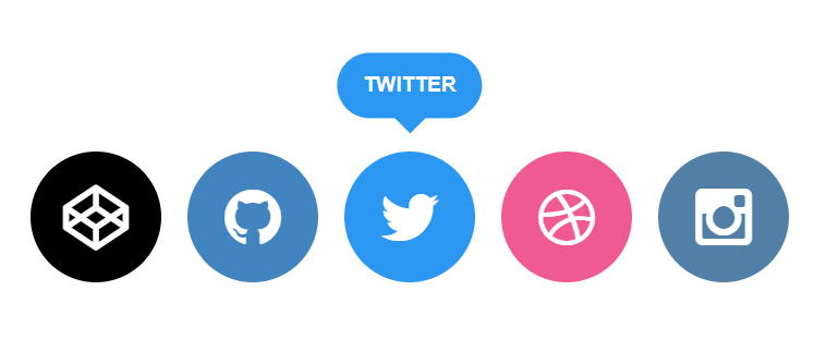 Social Icons with Tooltip