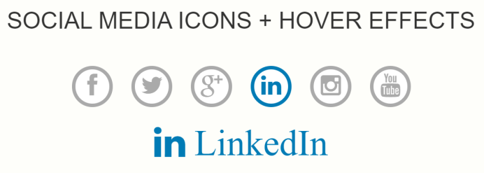 Social Icons Hover Effects