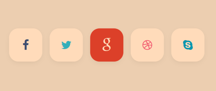 A few cool social buttons with smooth animations