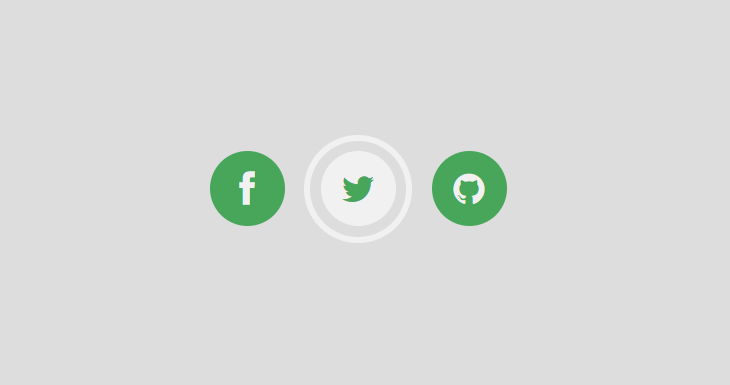 Very simple social icon hover effects