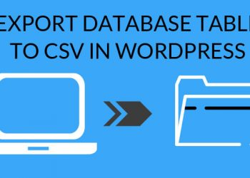 Export database table to csv in wordpress