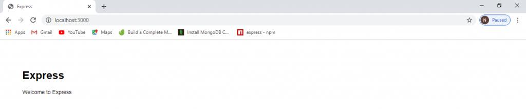 Installing ExpressJs In Window