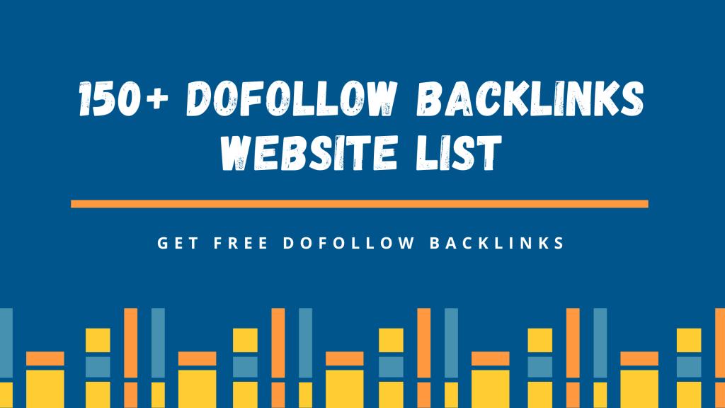 DoFollow Backlinks Site List 2021 | Get Free Backlinks