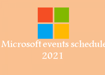 Top Microsoft events scheduled in 2021