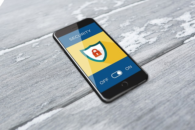 Phone displaying security lock feature.